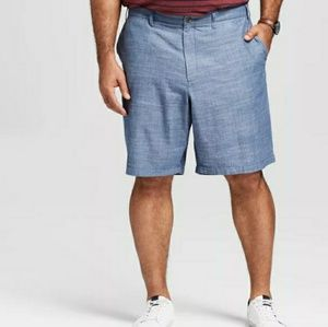 Blue Flat front shorts big and tall